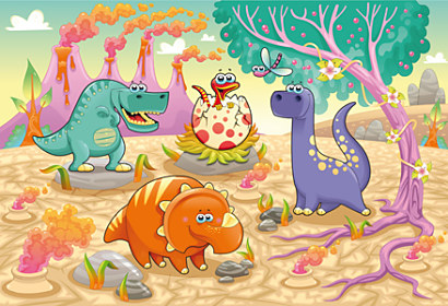 Fototapeta Happy Dinosaur Illustration 24234