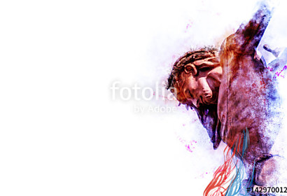 Fototapeta Jesus Christ on the cross ft-142970012