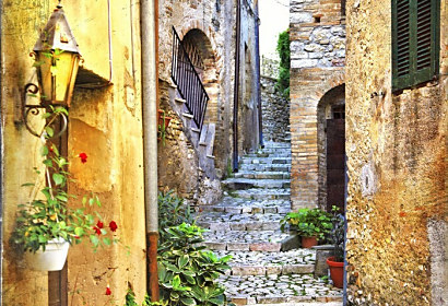 Fototapeta old streets of mediterranean ft-71817995