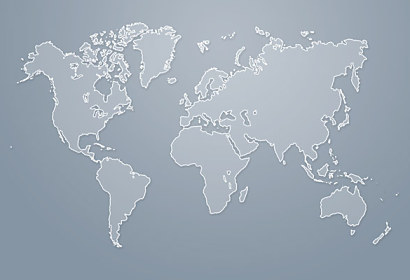 Fototapeta World Map Grey 24806