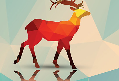 Fototapeta Geometric Polygonal deer ft-62786205